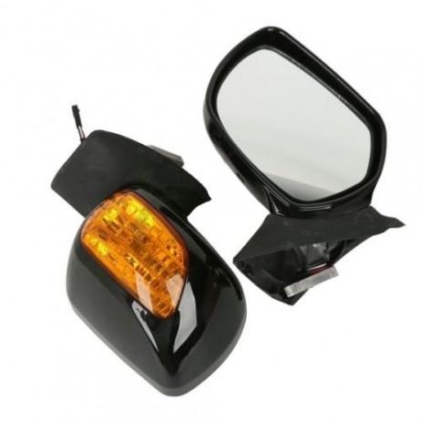 Chromovaná přední zrcátka včetně blinkrů pro Goldwing