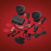Chromovaný Bluetooth stereo systém