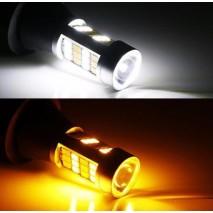 Náhradní LED žárovka s paticí, dvoubarevná (bílá/oranžová) SMD LED 5630, 12/24V
