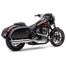 Chromovaný výfuk 909 Twins Slip-On Harley-Davidson