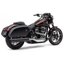 Černý výfuk 909 Twins Slip-On Harley-Davidson