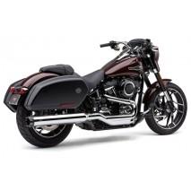 Chromovaný výfuk Dual Cut Slip-On Harley-Davidson