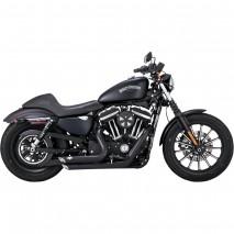 Černý Vance & Hines výfuk SHORTSHOTS STAGGERED BLACK pro Harley Davidson