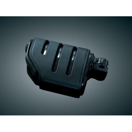 Černé lesklé ISO®-Pegs stupačky s adaptéry