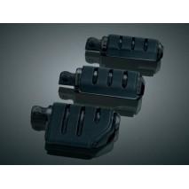Černé lesklé ISO-Pegs stupačky s adaptéry