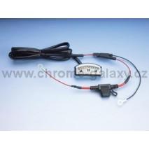 Chromovaný LED voltmeter