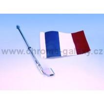 Francouzská vlajka s držákem Honda GL