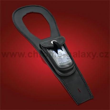 Kožený pás na nádrž s kapsou