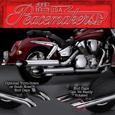 Peacemakers - Chromovaný výfuk Honda VTX 1300