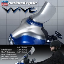 Čiré plexisklo Wave Harley Davidson