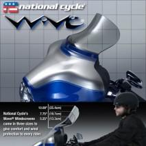 Lehce kouřové plexisklo Wave Harley Davidson