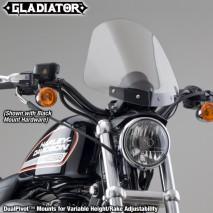 Polohovatelné lehce kouřové plexisklo Gladiator Harley-Davidson