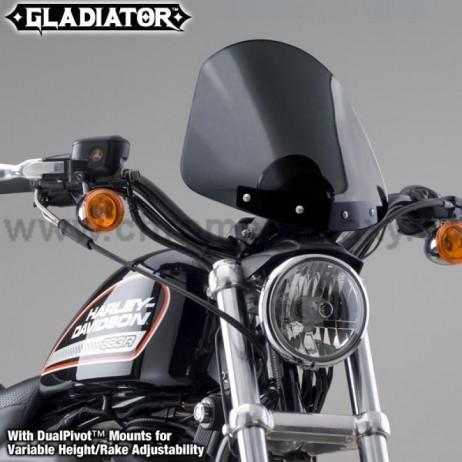 Polohovatelné černé plexi Gladiator Harley-Davidson