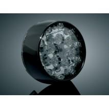 Lesklý černý LED zadní blinkr Harley Davidson