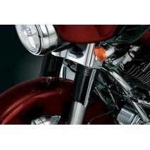 Černé kryty horní části vidlic Harley Davidson