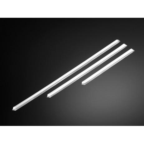 3D samolepky STRIPING, (3ks) 15, 22, 30cm, chrom
