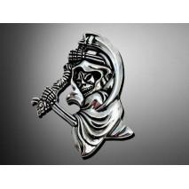 Nalepovací emblem GRIM REAPER, chrom