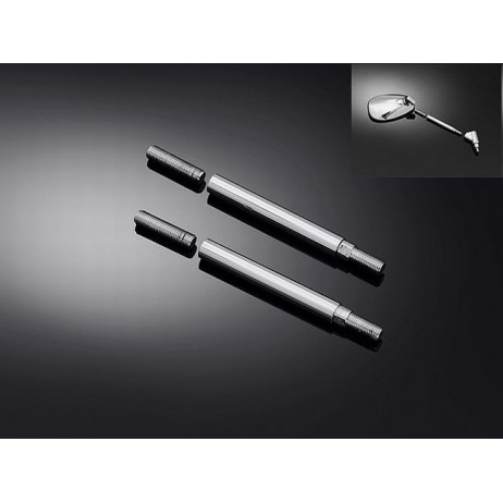 Prodloužená nožka zrcátka pro všechny japonské moto, chrom (2ks)