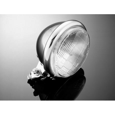 """Hlavní světlo BATES 140mm, chrom, homologované """"E"""""""