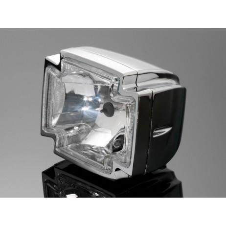 """Hlavní světlo GOTHIC 120x150mm, chrom, homologované """"E"""""""