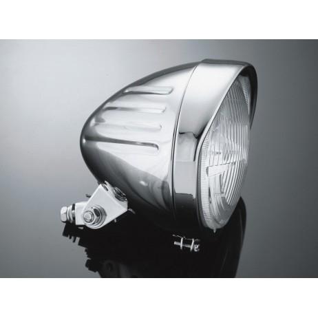 """Hlavní světlo TECH GLIDE 14 cm, chrom, homologované """"E"""""""