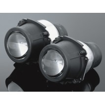 """Hlavní světlo DUAL LIGHT 2x60mm, černé, homologované """"E"""""""
