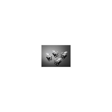 Sada objímek na přední vidlici 47-50mm, chrom (4ks)