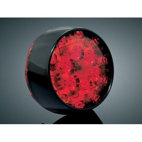 LED směrová světla - Gloss Black Bullet Panacea H-D