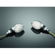 """Chromované blinkry LED CATEYE - krátká nožka, """"E"""""""
