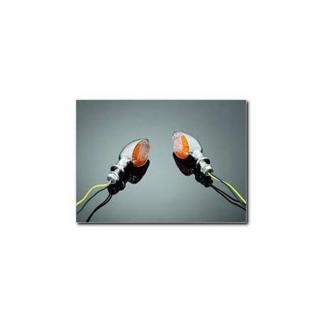 Chromované bicolor UNI LED blinkry