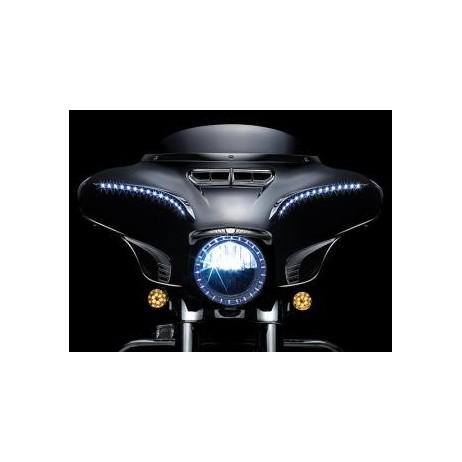 Černý LED svítící kroužek hlavního světla Harley Davidson