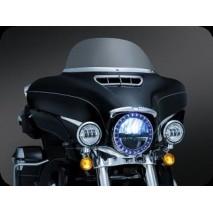 Chromovaný LED svítící kroužek hlavního světla