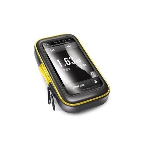 """Voděodolný držák CELLY FLEXBIKE pro 6"""" telefony a navigace k upevnění na řídítka"""