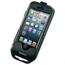 Voděodolné pouzdro Interphone pro Apple iPhone 5/5S, úchyt na řídítka, černé