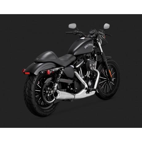 Chromovaný Vance & Hines výfuk 2-INTO-1 UPSWEEP pro Harley Davidson