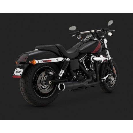 Černý Vance & Hines výfuk HI-OUTPUT 2-INTO-1 SHORT BLACK pro Harley Davidson