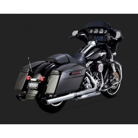Chromovaný Vance & Hines výfuk DRESSER DUALS pro Harley Davidson