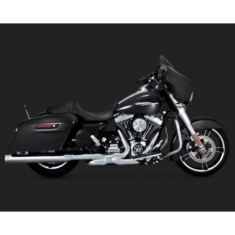 Chromovaný Vance & Hines výfuk MONSTER ROUNDS pro Harley Davidson