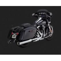 Chromovaný Vance & Hines výfuk OVERSIZED 450 TITAN SLIP-ONS pro Harley Davidson