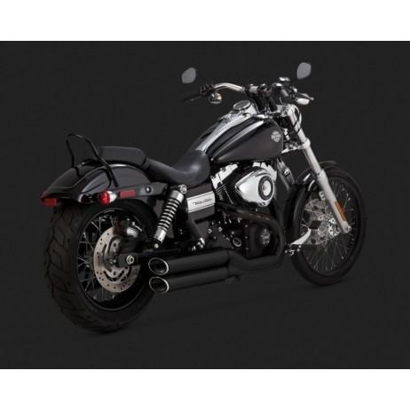 Černý Vance & Hines výfuk EC TWIN SLASH SLIP-ONS BLACK pro Harley Davidson