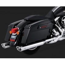 Chromovaný Vance & Hines výfuk MONSTER OVALS WITH CHROME TIPS pro Harley Davidson