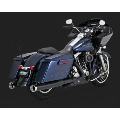 Černý Vance & Hines výfuk POWER DUALS BLACK pro Harley Davidson