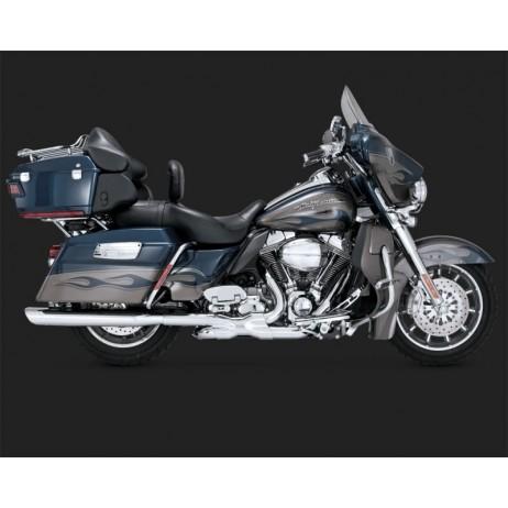 Chromovaný Vance & Hines výfuk TWIN SLASH OVAL SLIP-ONS pro Harley Davidson