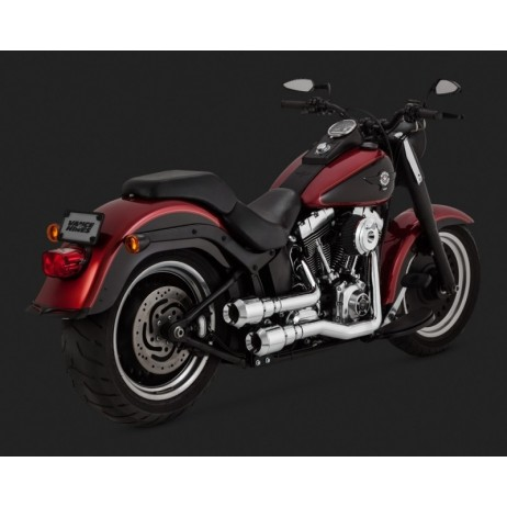 Chromovaný Vance & Hines výfuk HI-OUTPUT GRENADES 2-INTO-2 pro Harley Davidson