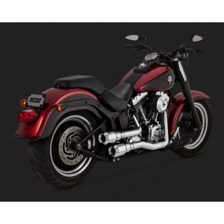 Černý Vance & Hines výfuk HI-OUTPUT GRENADES 2-INTO-2 BLACK pro Harley Davidson