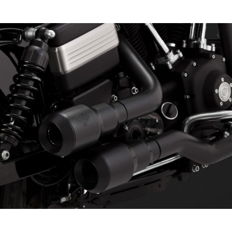 Černý Vance & Hines výfuk HI-OUTPUT GRENADES BLACK pro Harley Davidson