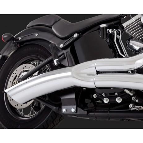 Chromovaný Vance & Hines výfuk BIG RADIUS 2-INTO-1 CHROME pro Harley Davidson