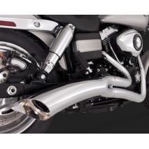 Chromovaný Vance & Hines výfuk BIG RADIUS 2-INTO-1 pro Harley Davidson