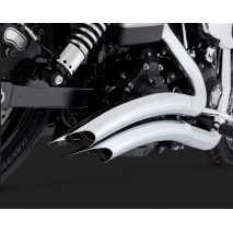 Chromovaný Vance & Hines výfuk BIG RADIUS 2-INTO-2 CHROME pro Harley Davidson