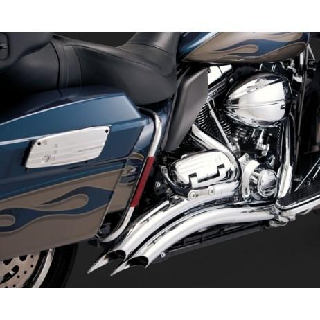 Chromovaný Vance & Hines výfuk BIG RADIUS 2-INTO-2 pro Harley Davidson